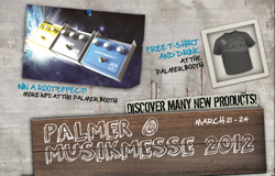 Palmer at Musikmesse 2012