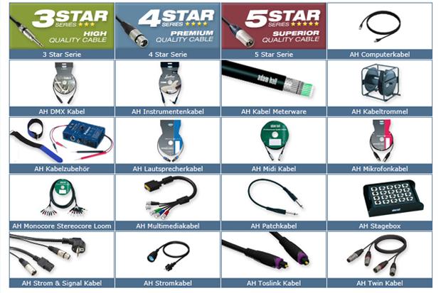Gamas de cables y accesorios de Adam Hall