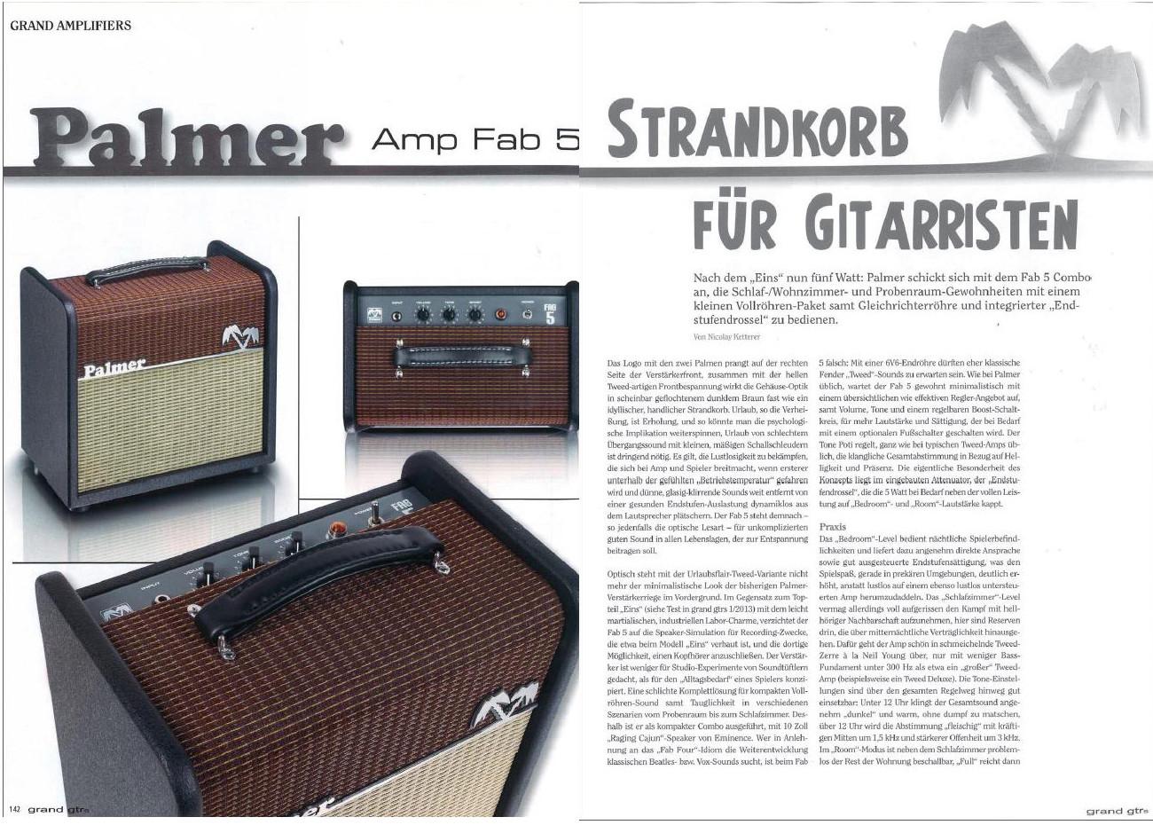 palmer fab 5 – strandkorb für gitarristen – testbericht von grand