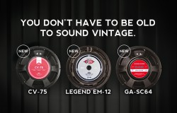 New vintage guitar speakers by Eminence