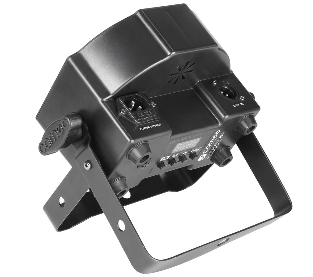 Der flache PAR-Scheinwerfer CLPFLAT1RGB10IR mit IR-Fernsteuerungsoption von Cameo Light