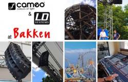 LD Systems y Cameo Light en el parque de atracciones Bakken, Copenhague