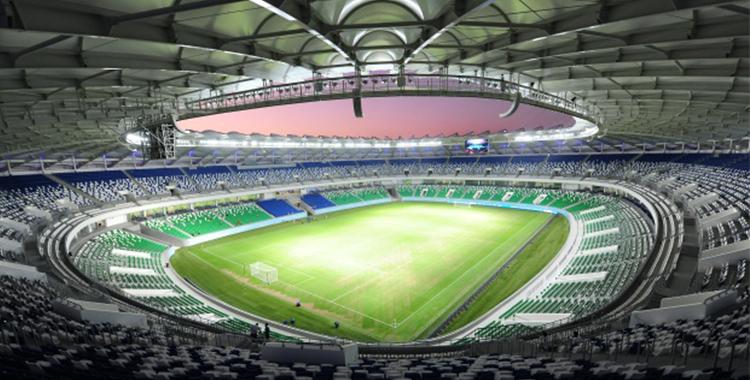 El estadio de fútbol Bunyodkor en Taskent es la sede del FC Bunyodkor, cuádruple campeón uzbeko.