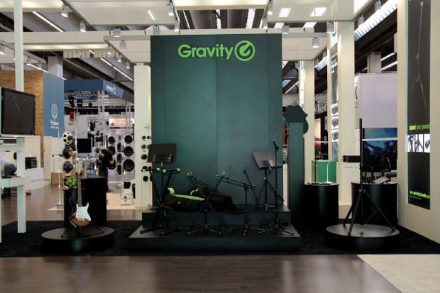 Gravity is the new brand of modern music stands from Adam Hall.