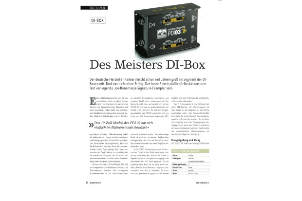 Palmer PDI 03 JB - A test report by delamar.de