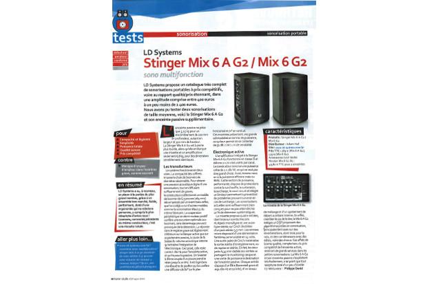 LD Systems Stinger Mix 6 A G2 / Mix 6 G2 - Un banc d'essai paru dans KR home-studio magazine