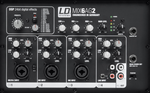 La mixette de la Stinger Mix 6 A G2.