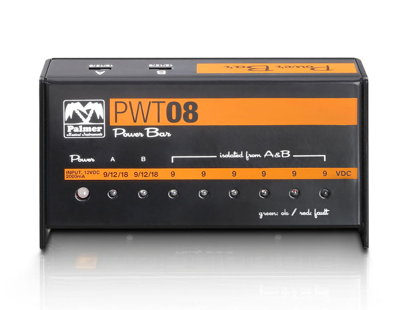 Palmer PWT08 – Universal power supply for effects pedals – A