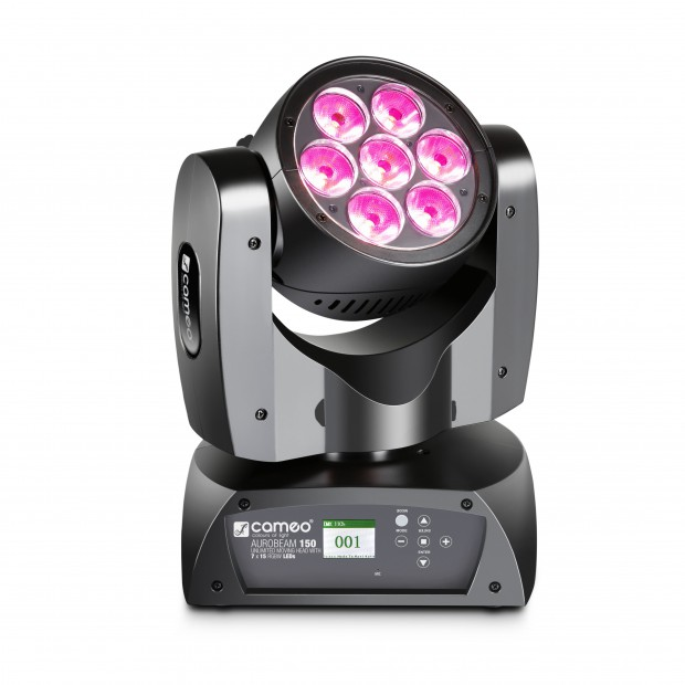 CAMEO AURO® BEAM 150: 7x 15 W RGBW LED Unlimited Moving Head