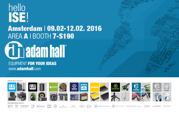 Press: Adam Hall Group at ISE Amsterdam, Booth 7-S190