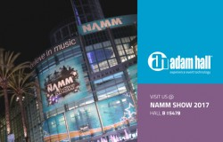Prensa: Adam Hall Group en la feria NAMM  de invierno 2017