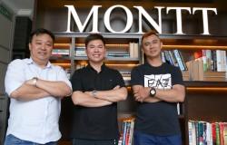 AV United-Geschäftsführer Chin beim Lunch mit COO Steven Loh und CEO Jimmy Lim
