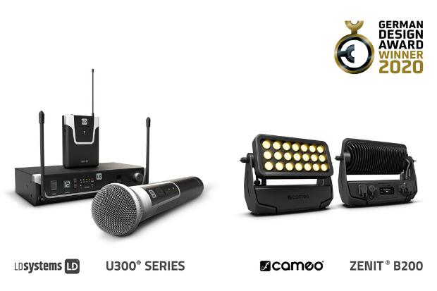 Press: Award-Winning Design – German Design Award 2020 for Cameo ZENIT® B200 and LD Systems U300® Series