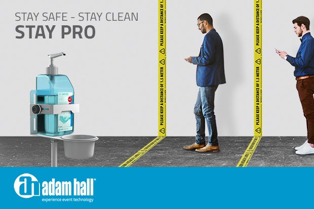 Press: Small Yet Effective – Gravity Disinfectant Stand and AH Accessories Social Distancing Tape